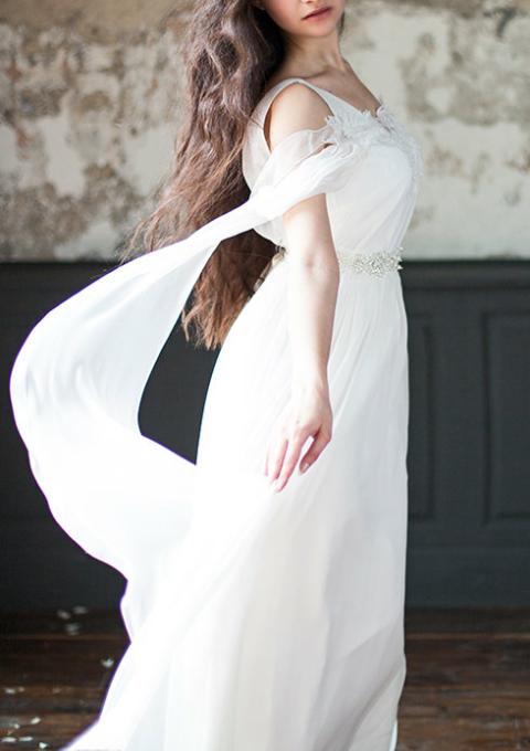 Brautkleid | Cathy Telle | Standesamt | Umstandskleid