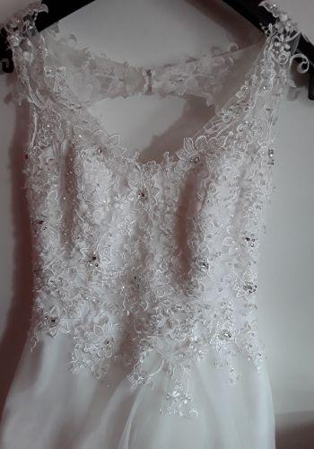 Second Hand Brautkleid | Einzelanfertigung | A-Linie | Gr. 34