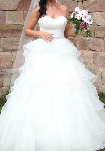 Second Hand Brautkleid | Einzelanfertigung | Prinzessin | Gr. 38