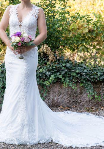 Second Hand Brautkleid | Justin Alexander | Meerjungfrau | Gr. 36