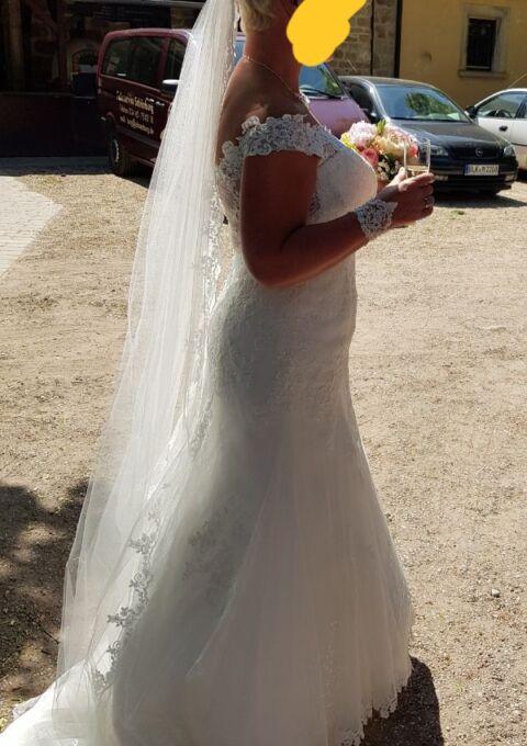 Second Hand Brautkleid | Meerjungfrau | Gr. 40