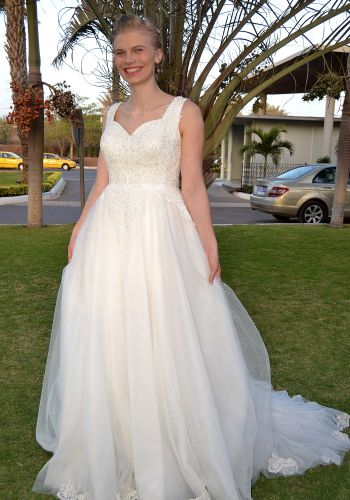 Second Hand Brautkleid | Einzelanfertigung | A-Linie | Gr. 40