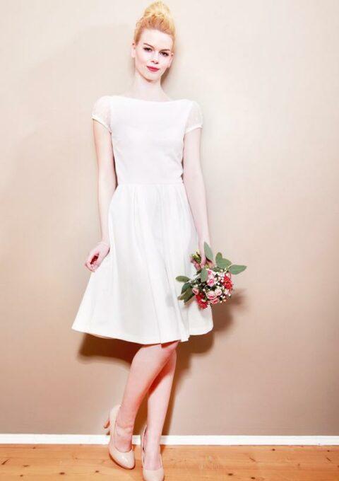 Brautkleid | Mirastern | CAMILLE | Standesamt | Minikleid