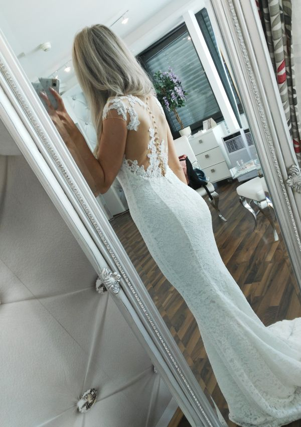 Second Hand Brautkleid   Pronovias Barcelona   Meerjungfrau   Gr. 34
