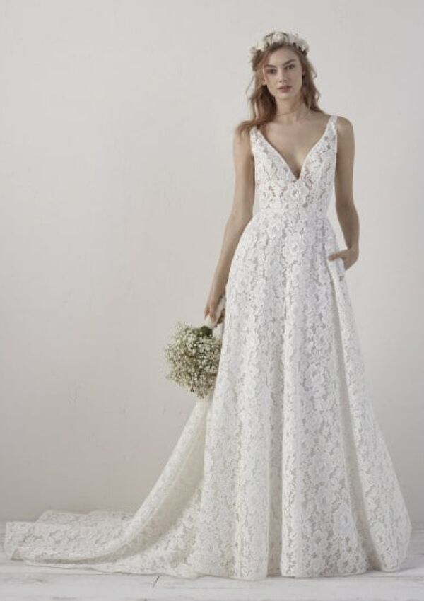 Second Hand Brautkleid | Pronovias Barcelona | Boho | Gr. 36
