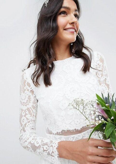 Brautkleid | ASOS Edition | Zweiteiler, Etui