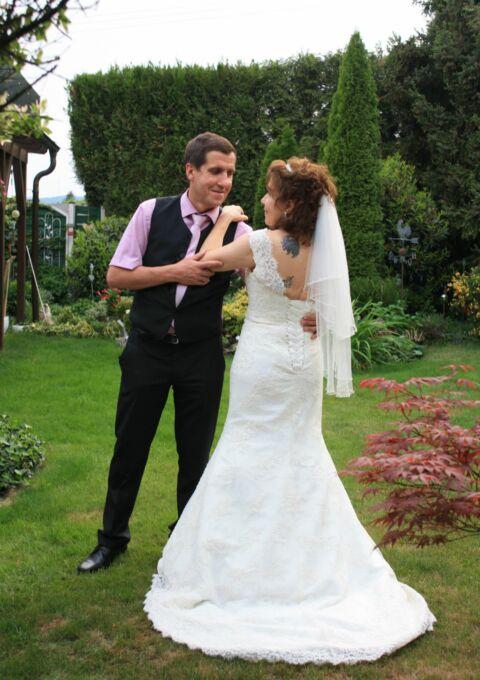 Second Hand Brautkleid   Einzelanfertigung   Meerjungfrau   Gr. 38   Maßgeschneidert
