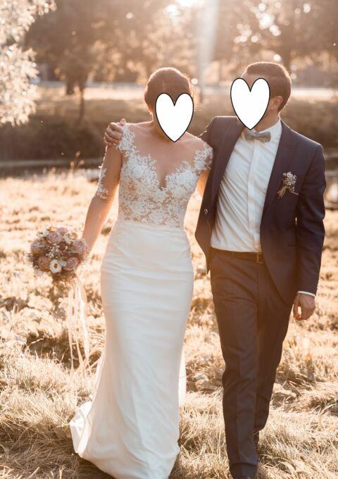 Second Hand Brautkleid | Milla Nova Vanessa | Fit and Flare | Gr. 38
