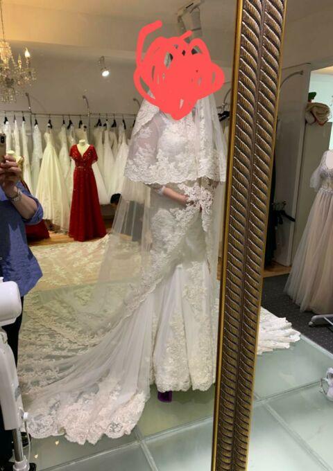 Second Hand Brautkleid | Einzelanfertigung | Meerjungfrau | Gr. 38