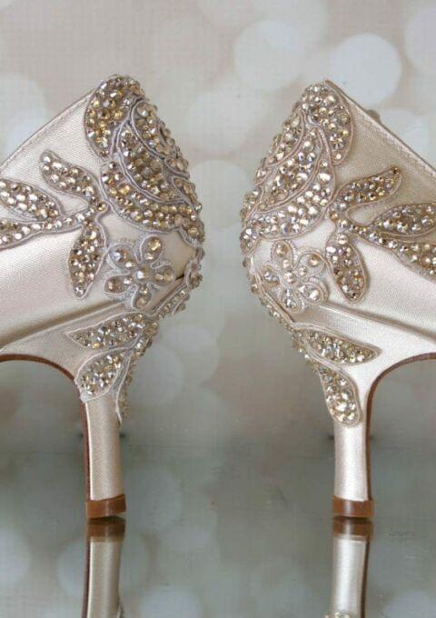Brautschuh | Ellie Wren Wedding Shoe | Peep-Toes | Pumps