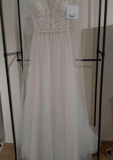 Second Hand Brautkleid | Fara Sposa | A-Linie | Gr. 36