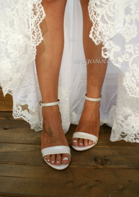 Brautschuh | Mago Sisters | Bianca | Sandaletten
