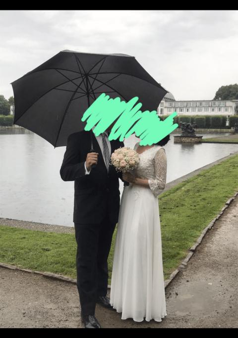Second Hand Brautkleid | Einzelanfertigung | A-Linie | Gr. 36