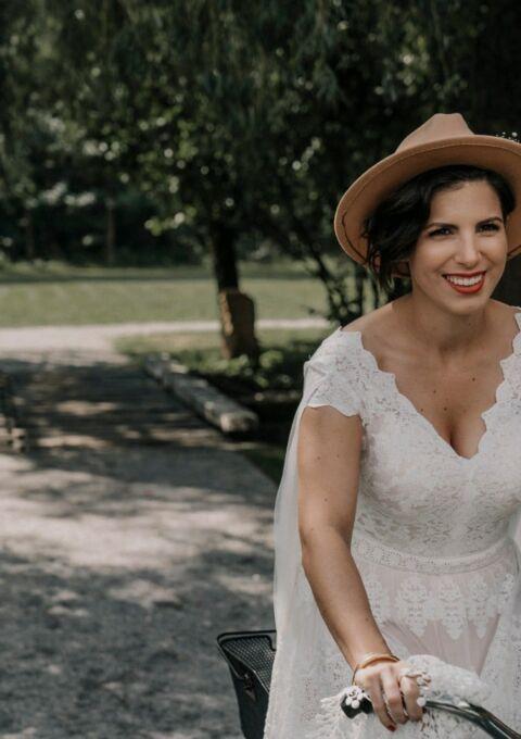 Second Hand Brautkleid | Via Etsy gekauft, handgemacht | Boho | Gr. 38