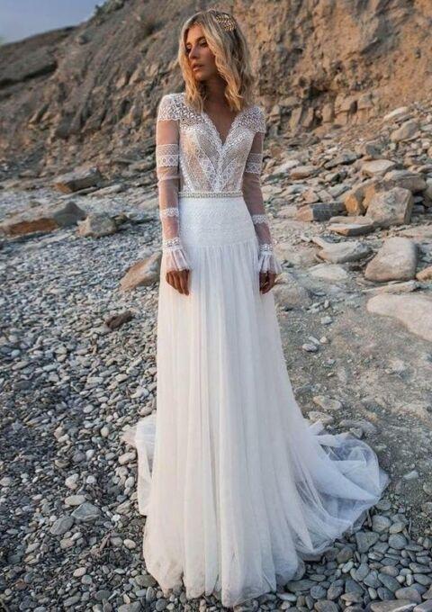 Brautkleid | Bliss Gown | Boho | A-Linie | Maßgeschneidert