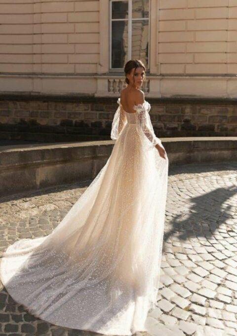 Brautkleid | Bliss Gown | A-Linie | Boho | Umstandskleid | Maßgeschneidert
