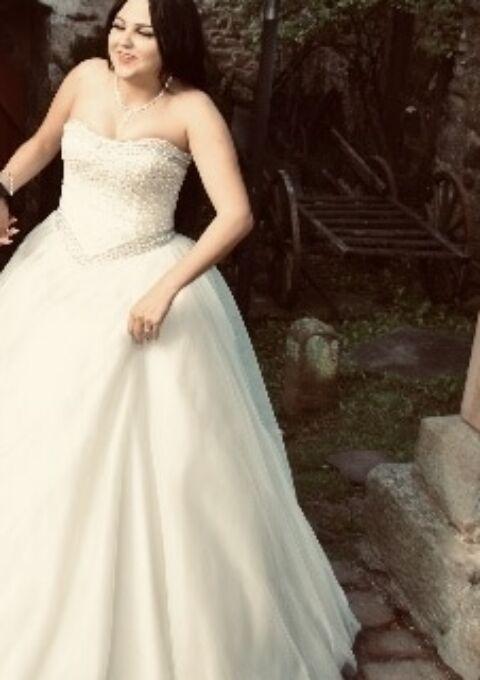 Second Hand Brautkleid | Einzelanfertigung | A-Linie | Gr. 38