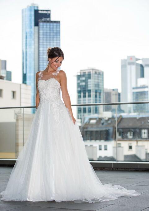 Brautkleid | Semiha Bähr Couture | Fabia2036 | A-Linie | Gr. 38 | Einzelstück