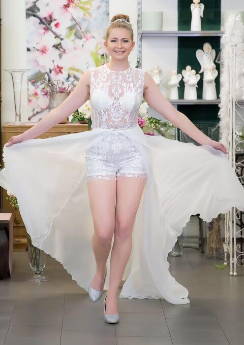 Brautkleid   Semiha Bähr Couture   Gala-2121   Zweiteiler   Maßgeschneidert
