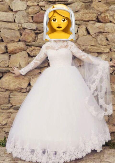 Second Hand Brautkleid | Einzelanfertigung | 1111 | Prinzessin | Gr. 42 | Maßgeschneidert