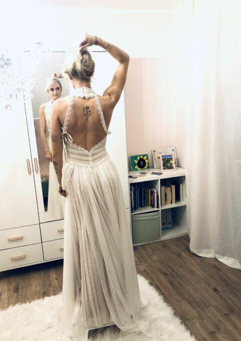 Second Hand Brautkleid | Chic Nostalgia | Boho | Gr. 34