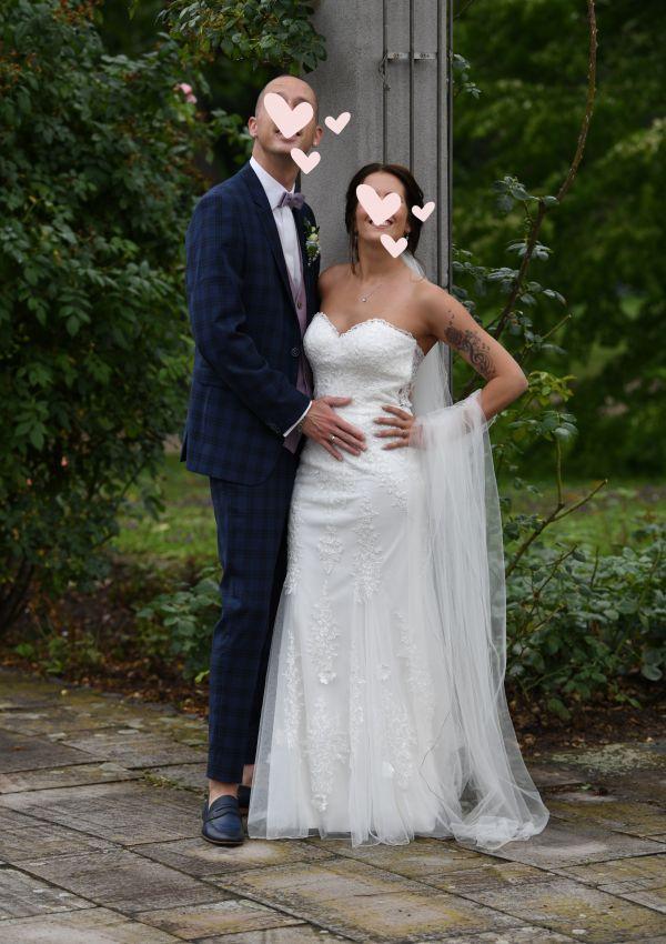 Second Hand Brautkleid | Justin Alexander | Meerjungfrau | Gr. 34 | Maßgeschneidert