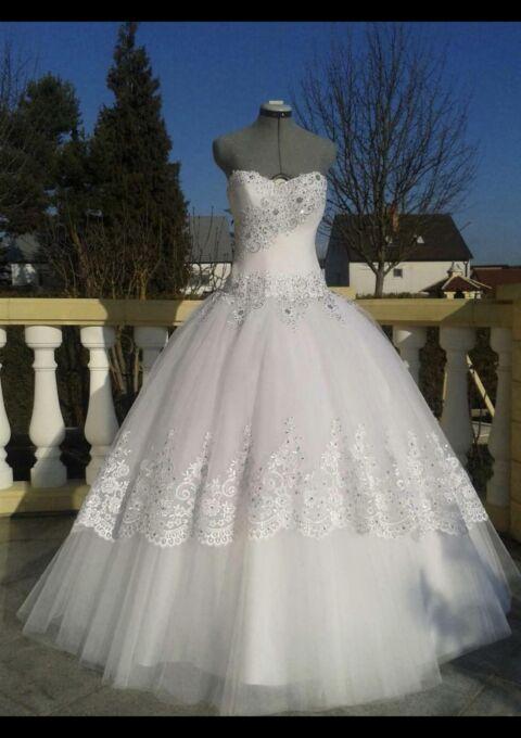 Second Hand Brautkleid | Einzelanfertigung | Prinzessin | Gr. 36 | Maßgeschneidert