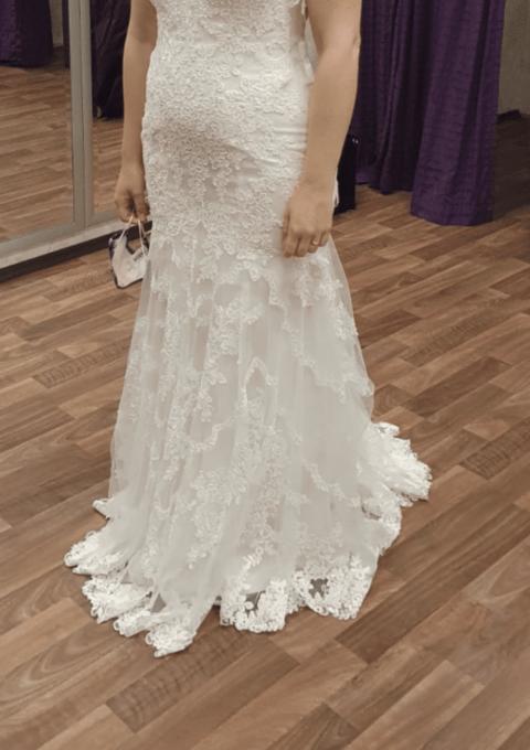 Second Hand Brautkleid   Stella York   Meerjungfrau   Gr. 38   Maßgeschneidert