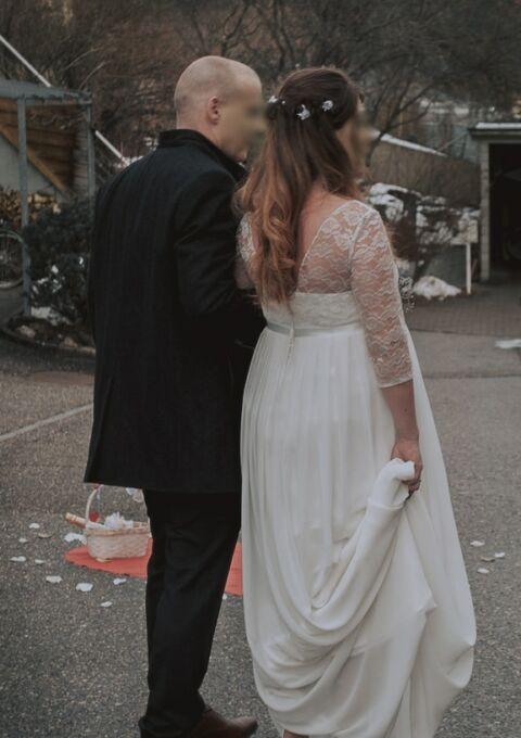 Second Hand Brautkleid | Einzelanfertigung | Empire | Gr. 38 | Maßgeschneidert