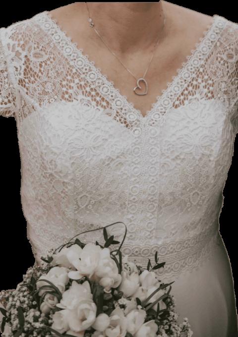 Second Hand Brautkleid | Bianco Evento | Bianco Evento | A-Linie | Gr. 44 | Maßgeschneidert