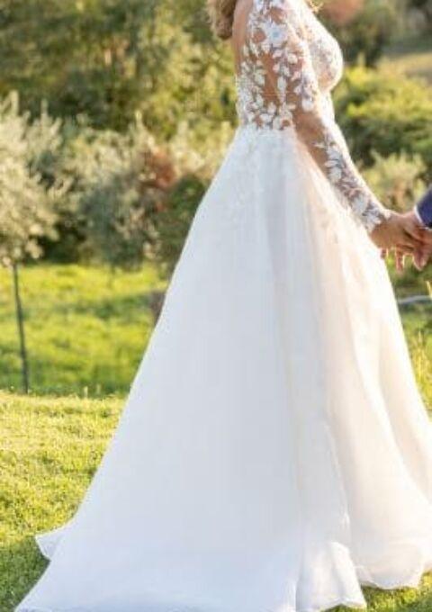 Second Hand Brautkleid | Jillian | A-Linie | Gr. 38 | Maßgeschneidert