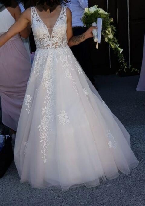Second Hand Brautkleid | Prinzessin | Gr. 32 | Maßgeschneidert