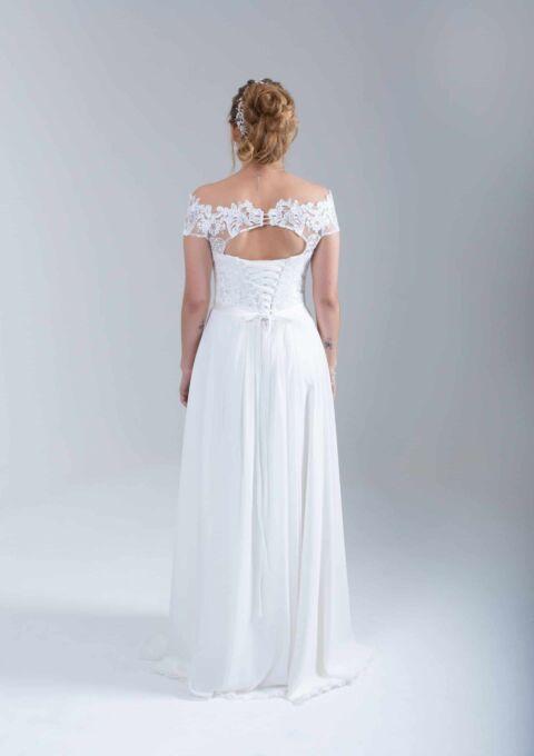 Brautkleid | BrautStyle24 | 0240 | Standesamt | A-Linie | Gr. 38
