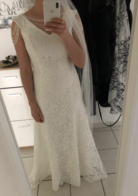 Second Hand Brautkleid | Aleyda | Fit and Flare | Gr. 38 | Maßgeschneidert | Neu & ungetragen