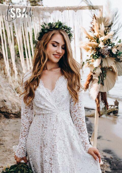 Brautkleid | Stylish Bride Accs | Alyssa | Boho | Standesamt | Maßgeschneidert