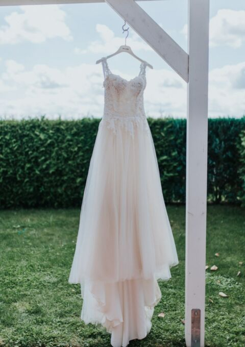 Second Hand Brautkleid | Enzoani | A-Linie | Gr. 34
