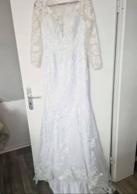 Second Hand Brautkleid | Einzelanfertigung | Meerjungfrau | Gr. 38 | Maßgeschneidert