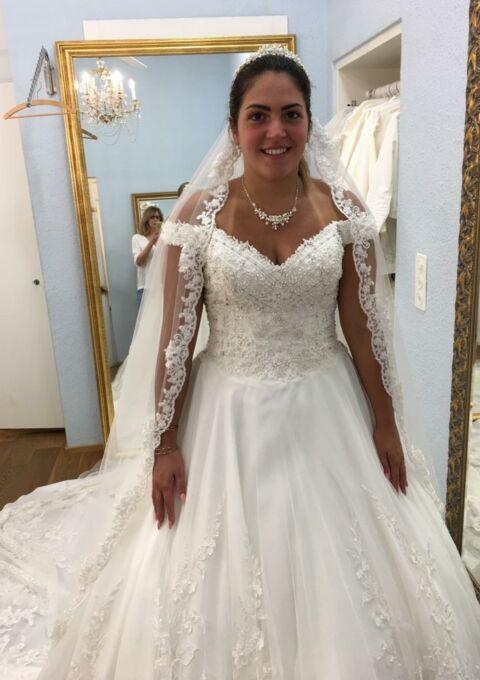 Second Hand Brautkleid | Einzelanfertigung | Elena | Prinzessin | Gr. 38 | Neu & ungetragen