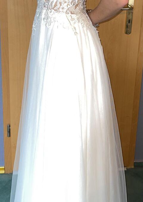 Second Hand Brautkleid | A-Linie | Gr. 34 | Maßgeschneidert | Neu & ungetragen
