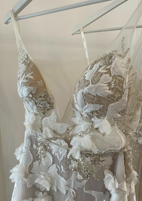 Second Hand Brautkleid   Muse by Berta   EVE   A-Linie   Gr. 38   Neu & ungetragen