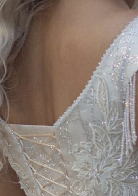 Second Hand Brautkleid   Einzelanfertigung   Prinzessin   Gr. 38