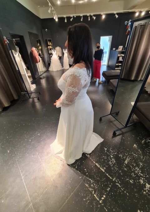 Second Hand Brautkleid | Bianco Evento | A-Linie | Gr. 46 | Maßgeschneidert