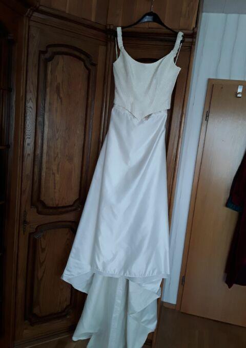 Second Hand Brautkleid | Einzelanfertigung | Zweiteiler | Gr. 38 | Maßgeschneidert