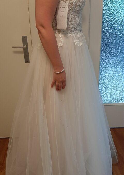 Second Hand Brautkleid | Elizabeth Passion / Mode de Pol | A-Linie | Gr. 40 | Neu & ungetragen