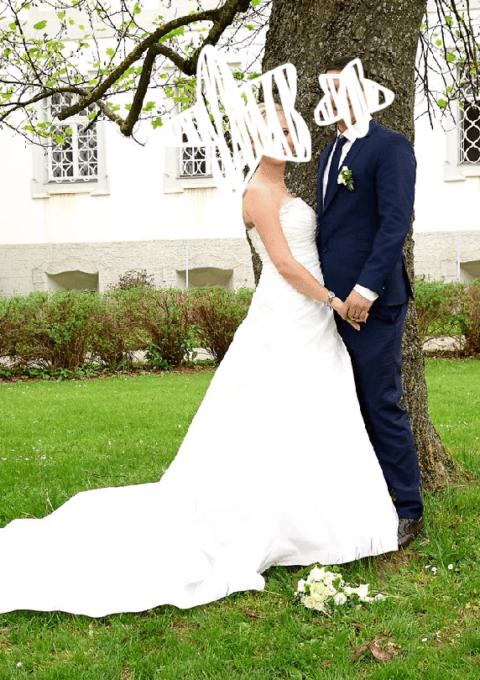 Second Hand Brautkleid   Tomy Mariage   A-Linie   Gr. 40   Maßgeschneidert