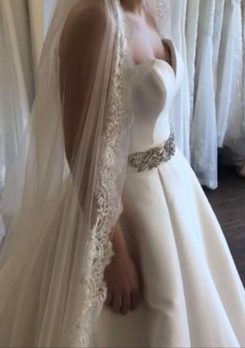 Second Hand Brautkleid | Justin Alexander | A-Linie | Gr. 38 | Neu & ungetragen