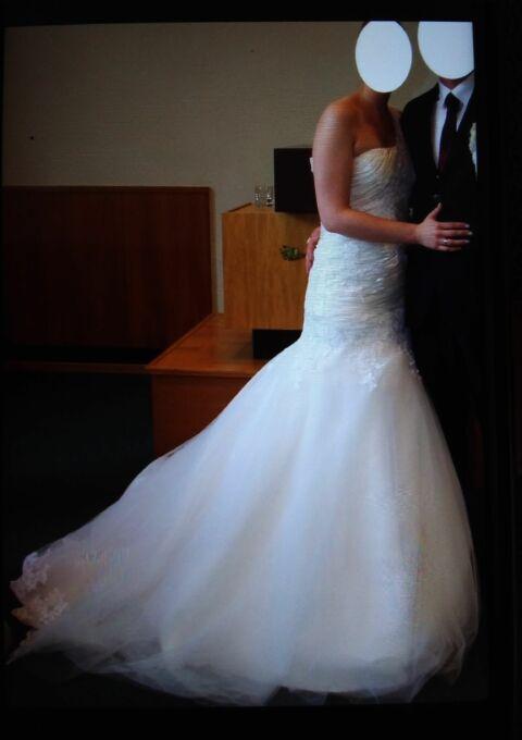 Second Hand Brautkleid | Einzelanfertigung | Meerjungfrau | Gr. 40 | Maßgeschneidert