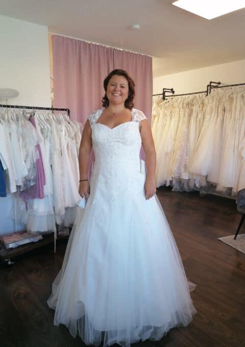 Second Hand Brautkleid   Lohrengel   A-Linie   Gr. 46   Neu & ungetragen