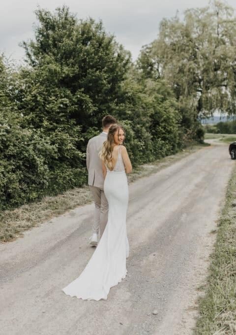 Second Hand Brautkleid   Made with love bridal   Kleid Sofia   Fit and Flare   Gr. 36   Maßgeschneidert