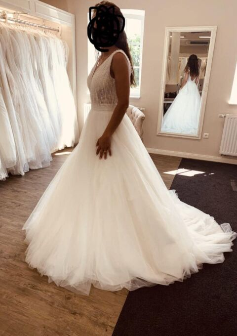 Second Hand Brautkleid | Luna Novias | A-Linie | Gr. 36 | Neu & ungetragen